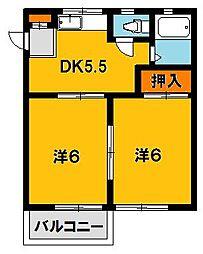 ドリームハイツ澤 5号棟[1階]の間取り