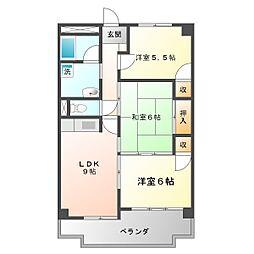 西丸之内パークマンション[502号室]の間取り
