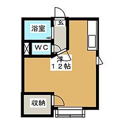 コスモハイツ5[1階]の間取り