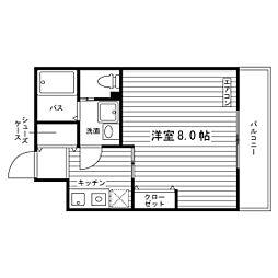 東京都練馬区北町7丁目の賃貸マンションの間取り