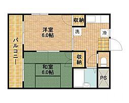 ローズマンション[1階]の間取り