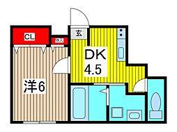230ビル[2階]の間取り