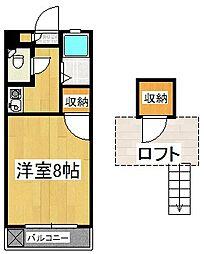 シャトレ隈II[2階]の間取り
