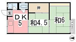 兵庫県姫路市東辻井3丁目の賃貸アパートの間取り