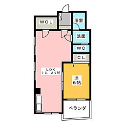 コーポラス亀の井[3階]の間取り