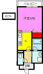 ミカド21鴻池[8階]の間取り