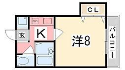 頼安コーポ[203号室]の間取り