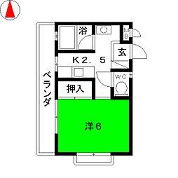 杉花コーポ[2階]の間取り