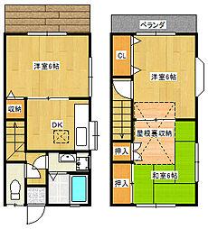 [テラスハウス] 千葉県市川市国分2丁目 の賃貸【/】の間取り