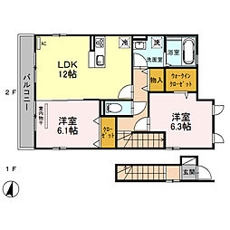 (仮)D‐room桜区南元宿2丁目 II[201号室]の間取り