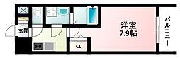 JR東海道・山陽本線 新大阪駅 徒歩12分の賃貸マンション 2階1Kの間取り