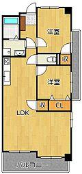 デザイナー・プリンセス・KY[4階]の間取り
