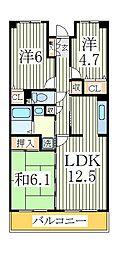 柏ビクトリーマンション壱番館[2階]の間取り