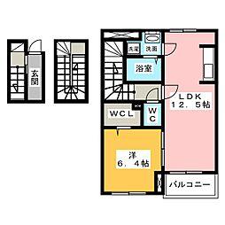 ユングランスI[3階]の間取り