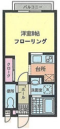 鶴ヶ峰1丁目 ブルーハイムII202[202号室]の間取り