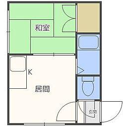 東札幌ハイツA[2階]の間取り