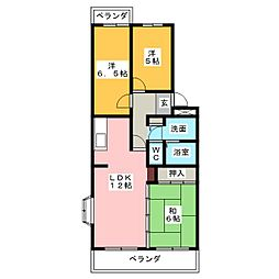 ボナールIII[1階]の間取り