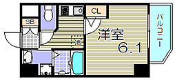 大阪府大阪市北区大淀中5丁目の賃貸マンションの間取り