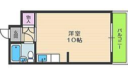 グレイスフル中崎II[10階]の間取り