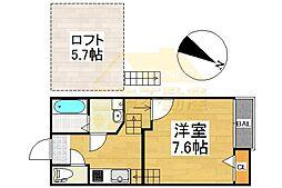 アンピオ姪浜壱番館[102号室 号室]の間取り