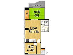 サンサーラ甲子園[3階]の間取り