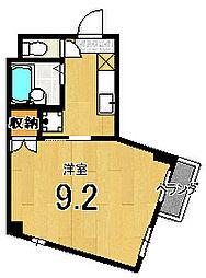 メゾン徳大寺[202号室]の間取り