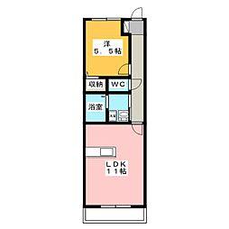 ユーティリティホームI[3階]の間取り