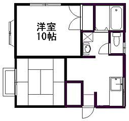 新潟県新潟市東区紫竹7丁目の賃貸アパートの間取り