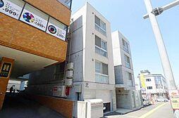 北海道札幌市豊平区月寒中央通3の賃貸アパートの外観