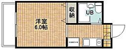 シャルム新城[207号室]の間取り