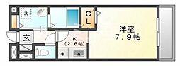 シュープリーム[103号室]の間取り