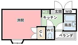 兵庫県姫路市保城の賃貸マンションの間取り
