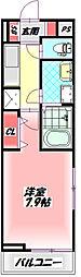 京阪本線 守口市駅 徒歩14分の賃貸アパート 1階1Kの間取り