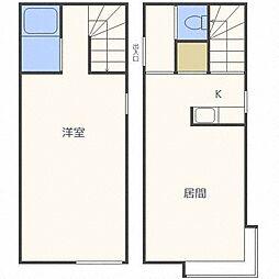 メゾンド東札幌[1階]の間取り