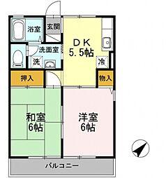 ピュア桜台[2階]の間取り