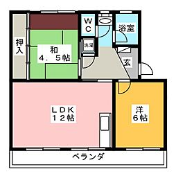 長丘リーゼントコーポレーションC棟[5階]の間取り