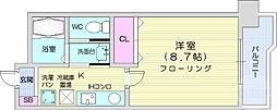 JR仙山線 東北福祉大前駅 徒歩13分の賃貸マンション 2階1Kの間取り