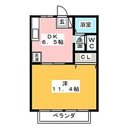 長斉ハイツ[2階]の間取り