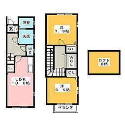 プラム瑞穂[2階]の間取り