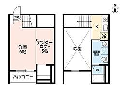 愛知県名古屋市西区円明町の賃貸アパートの間取り
