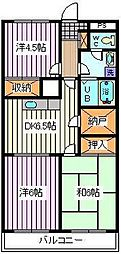 埼玉県さいたま市中央区大戸1丁目の賃貸マンションの間取り