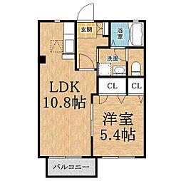 千葉県千葉市緑区あすみが丘3の賃貸アパートの間取り