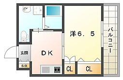セイナ古川橋[4階]の間取り