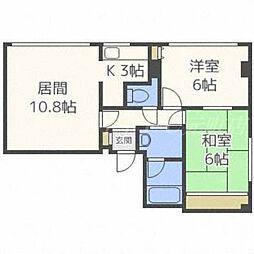 フォーレストN13[3階]の間取り