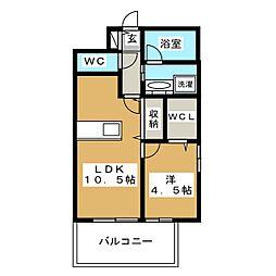 アクタス箱崎ステーションコート 3階1LDKの間取り