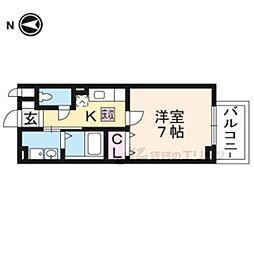 阪急嵐山線 松尾大社駅 徒歩10分の賃貸アパート 1階1Kの間取り