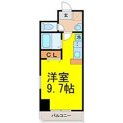 愛知県名古屋市西区名西1丁目の賃貸マンションの間取り