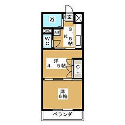 ソフィア[4階]の間取り