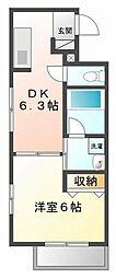 ラウル甲子園口[6階]の間取り