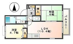 ディアス島泉II[2階]の間取り
